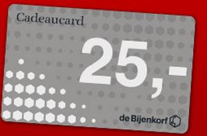 Bijenkorf kado kaart_spaarrentesvergelijken.net